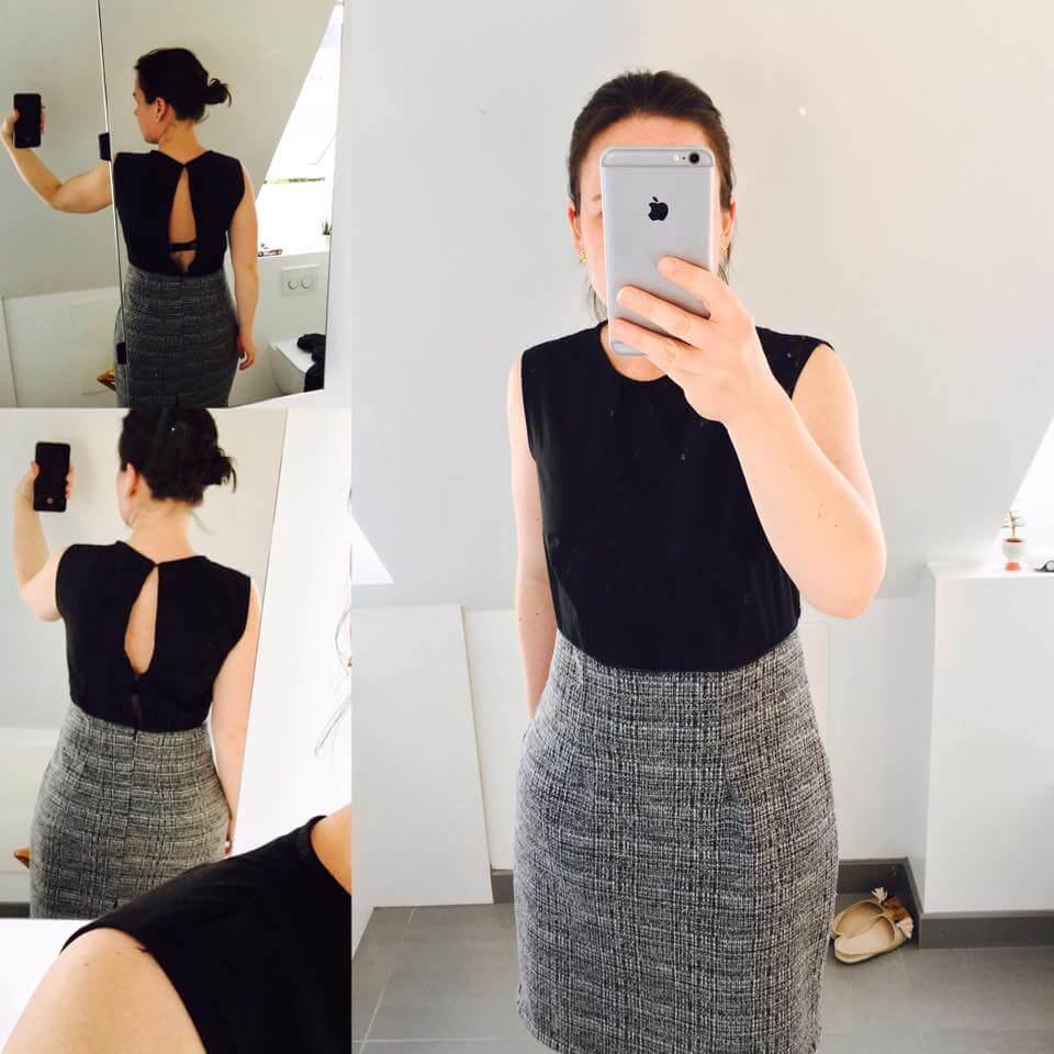 d406b1dfdb9e Marias kjole er designet ud fra personligt grundmønster.