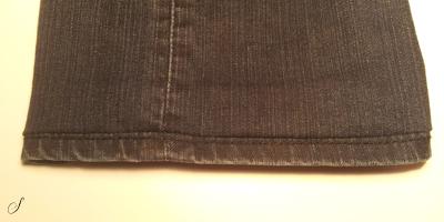 Oplægning af bukser - Jeans med original kant