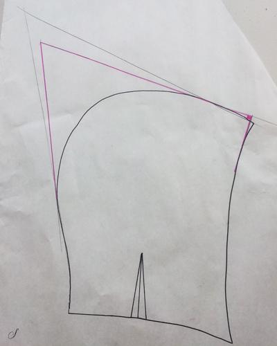 Mønster til hætte - Sådan laver du en spids hætte