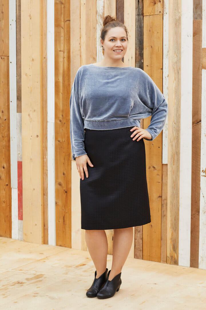 Bluser til nederdel