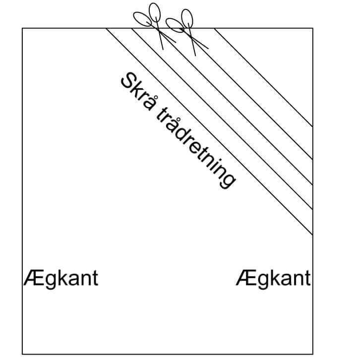 Klippevejledning til skråbånd