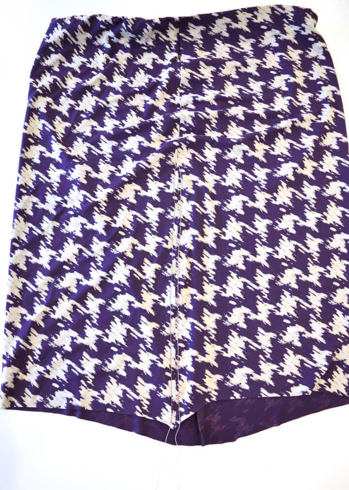 sy nederdel med elastik i talje