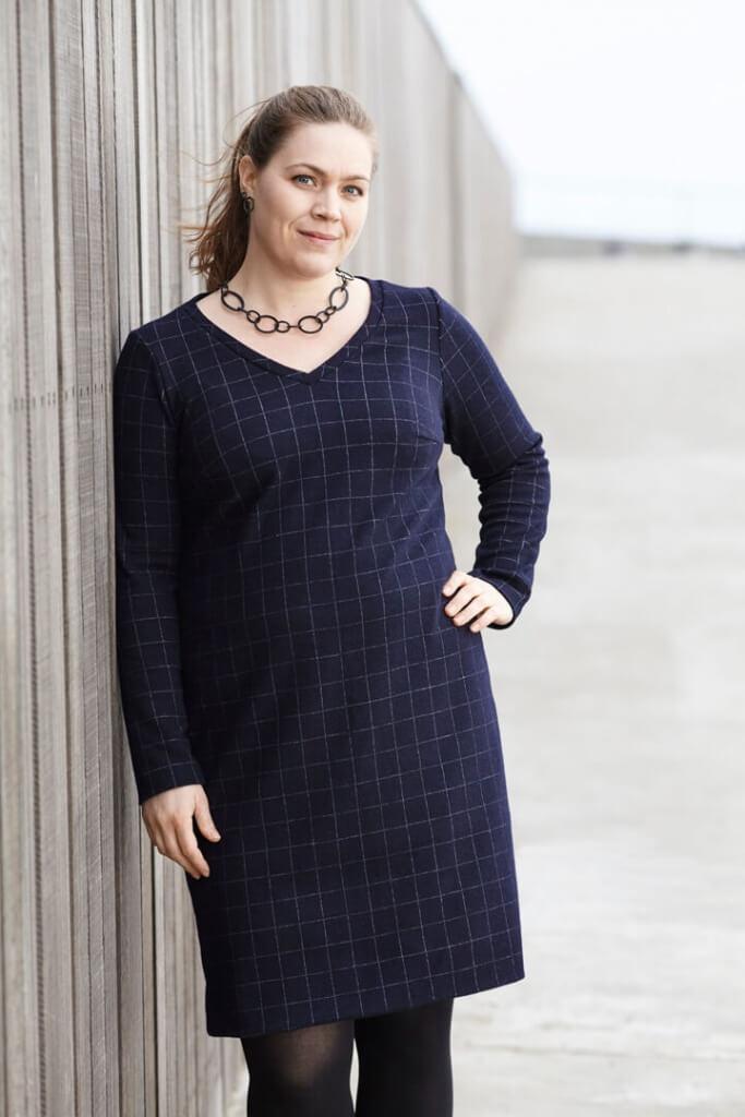 grundmønster til kjole i strik