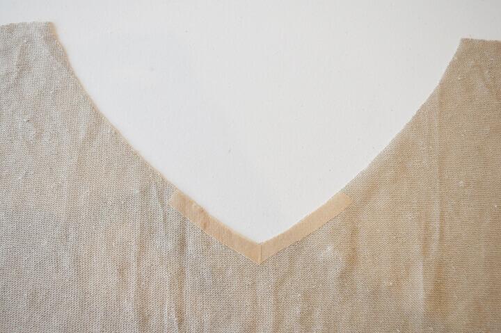 Sy v-hals i bluse