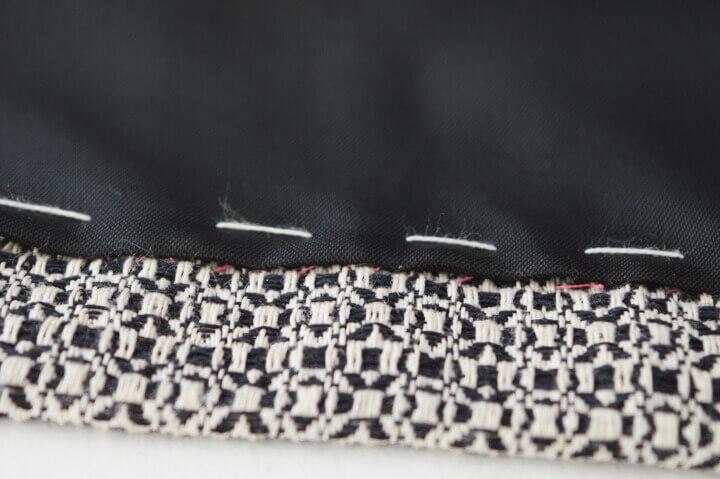 håndsyning af foer i nederdele