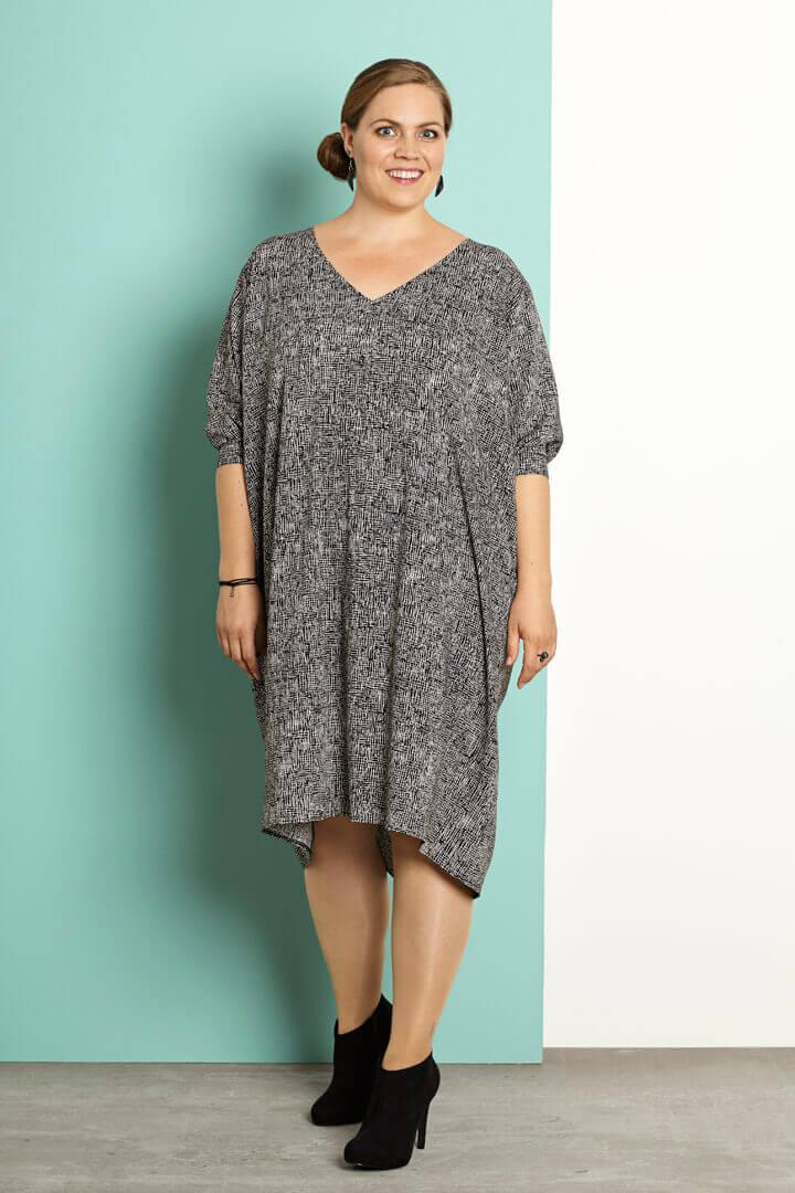kjolestof - tætvævet viscose kjole