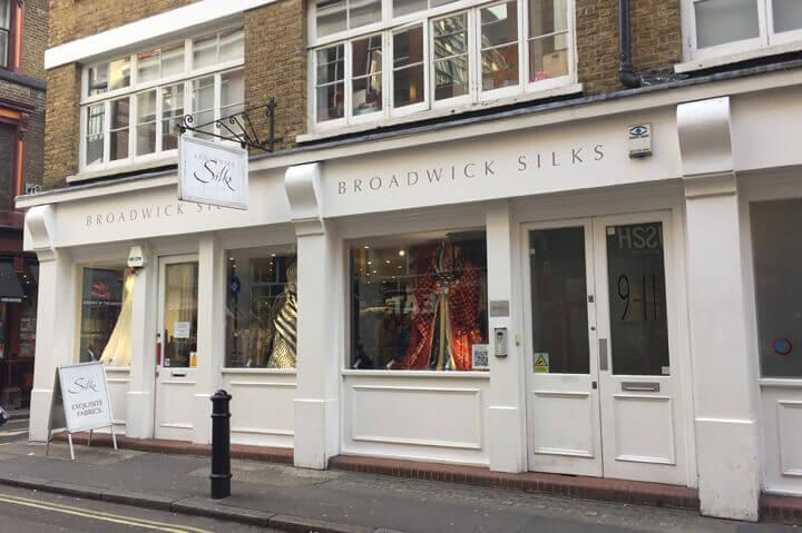 Stofbutikker i London