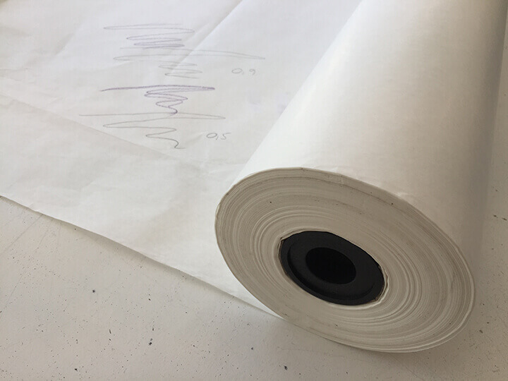 mønsterpapir rulle