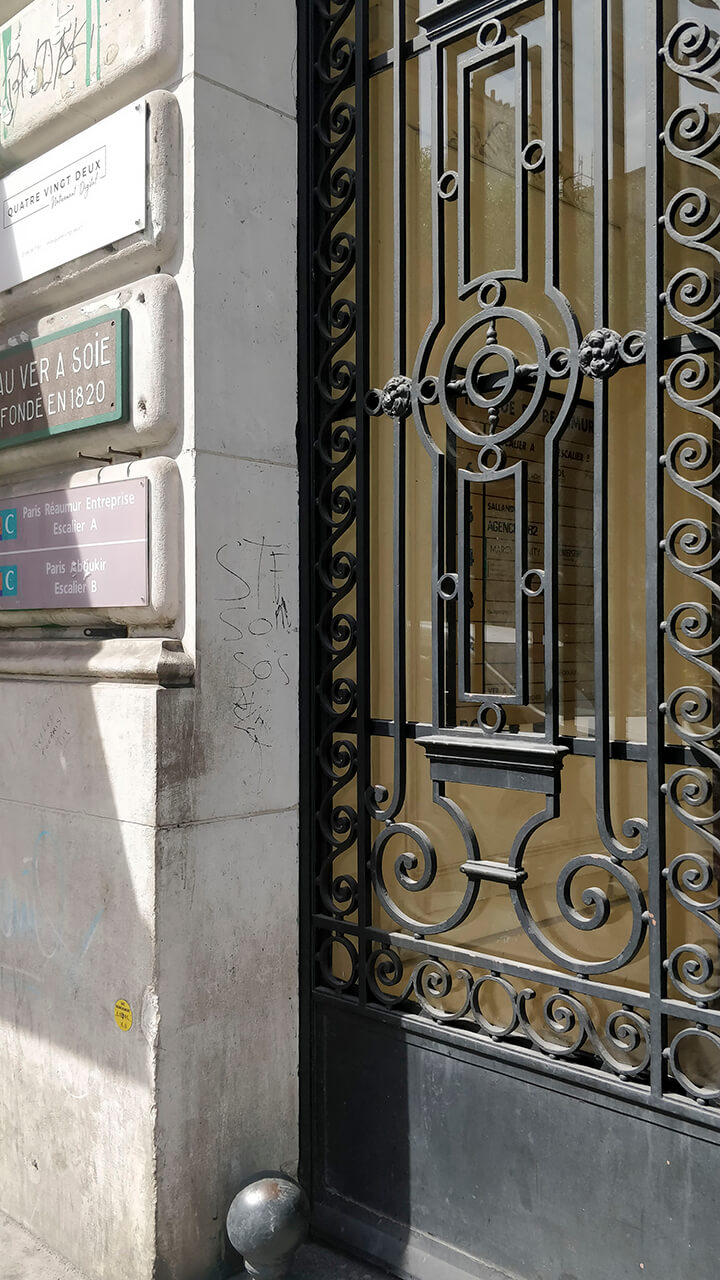 Stofbutikker i Paris - Au ver a soie