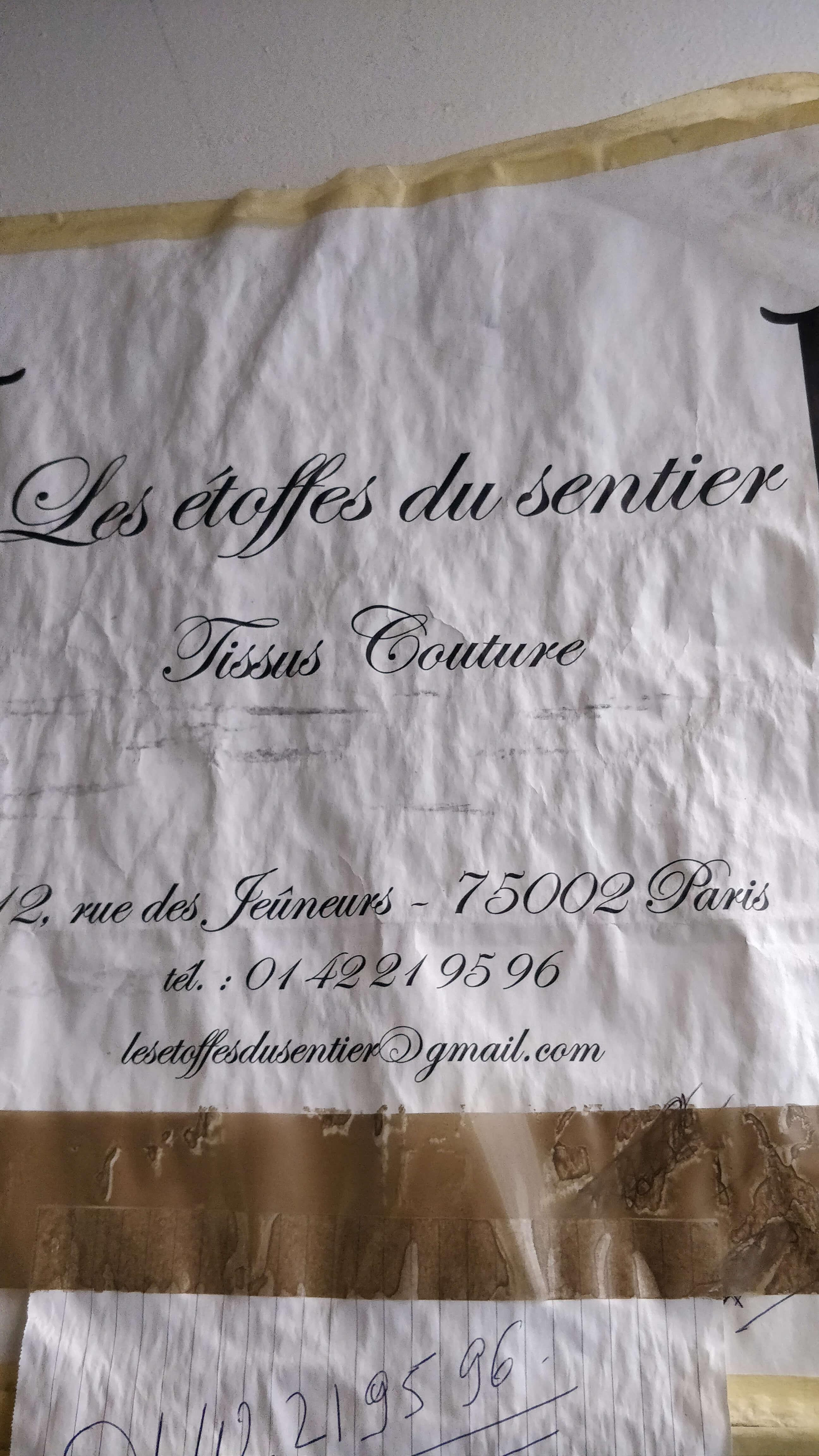 Stofbutikker i Paris - les etoffes du sentier